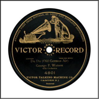 "Record Label: Early 1905-1908. Note ""Grand Prize"" in the center.  Records from 1908-1914 would feature ""Patents""  dates/information listed at the bottom of the record."