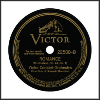 "Record Label: 1936-1946. Note ""Circles"" on edge of label.  May be blue or purple, or red, or maroon, or orange."