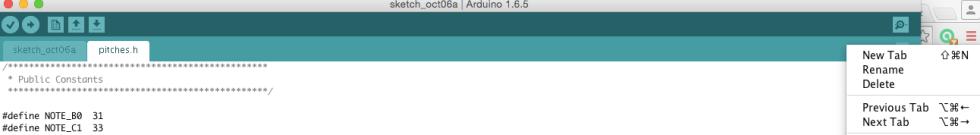 New Arduino Tab