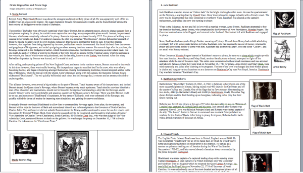 Golden Age of Piracy Lesson Plans