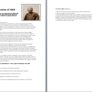 World History II Garibaldi Nationalism Speech