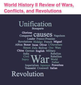 Lesson Plans for World History II Review of Wars Conflicts and Revolutions
