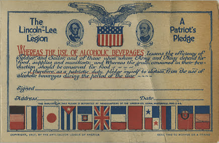lincoln lee pledge card 1917