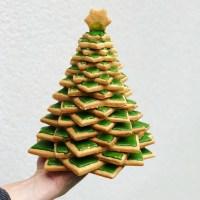 Noël : Un sapin en biscuit étoilé