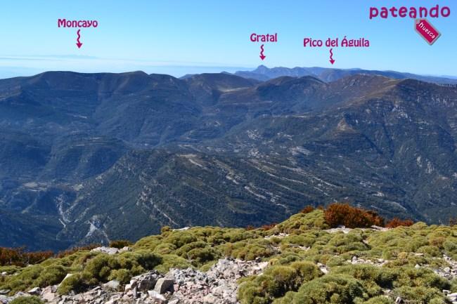 Vistas del Moncayo, Gratal y el Pico del Águila