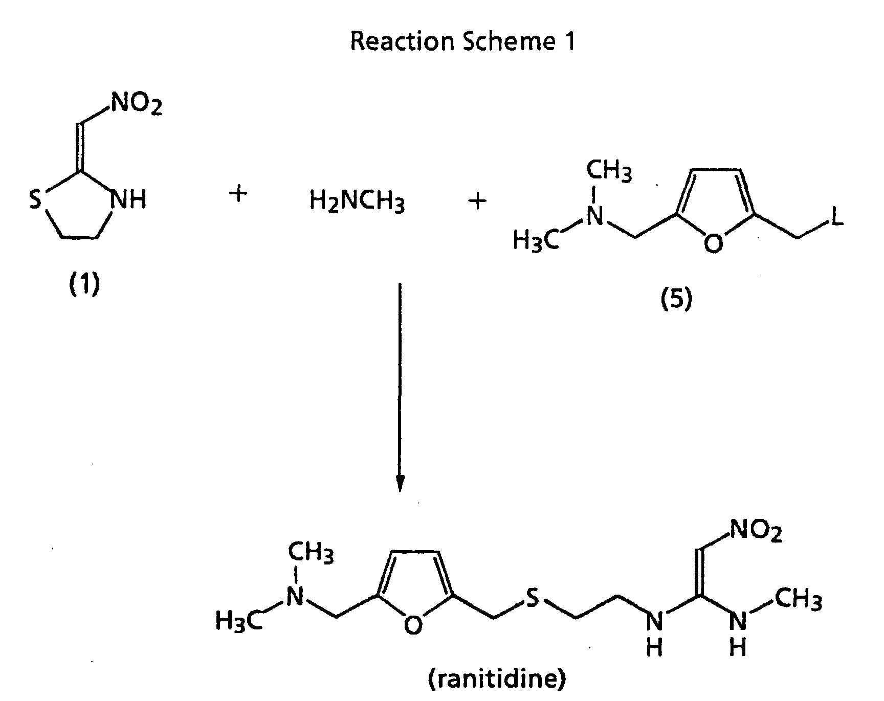 Image result for A new method for the synthesis of ranitidine.