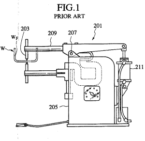 Patent EP0819496A2  Spot welding machine  Google Patents