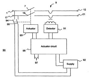 Patent EP1805861B1  Earth leakage circuit breaker  Google Patents