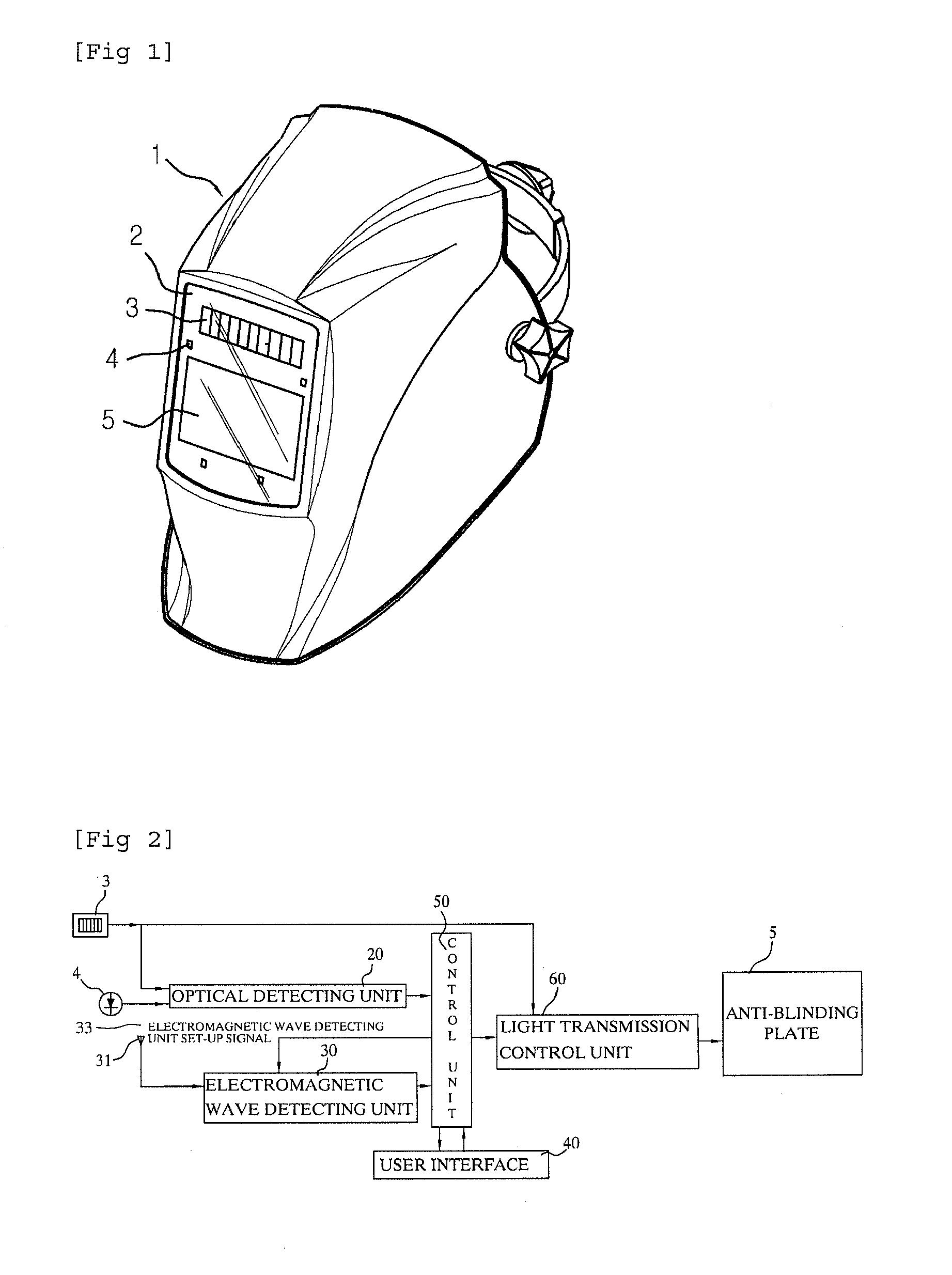 Welding shield diagram blueraritan info on diy welding table welding helmet frame for patent epa welding