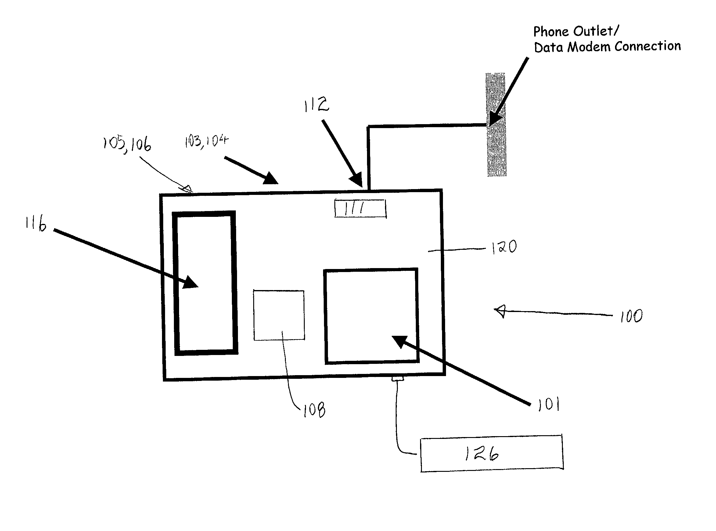 a modem to connect a fax machine