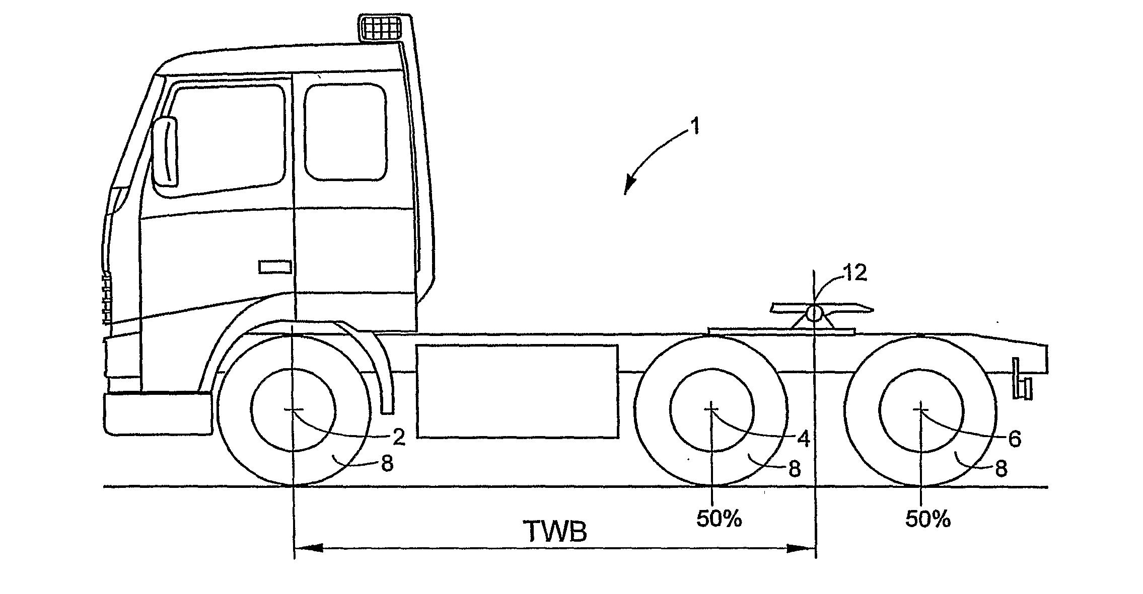 Semi Truck Side View Drawing