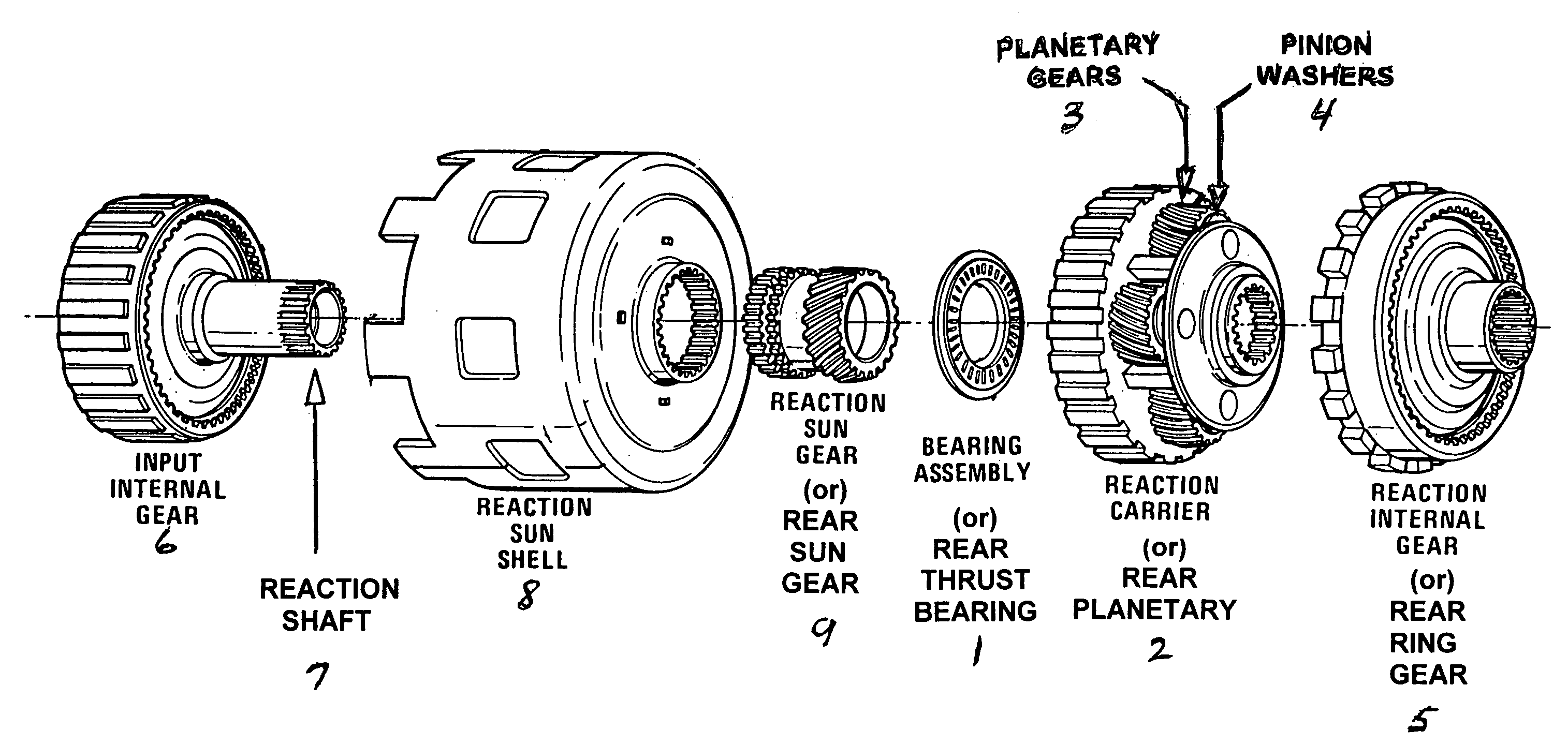 4l60e Automatic Transmission Parts Diagram