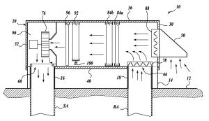 Patent US20080203866  Rooftop modular fan coil unit