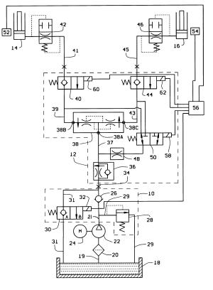Patent US6189432  Automotive lift hydraulic fluid control