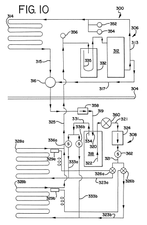 Patent US6196007  Ice making machine with cool vapor