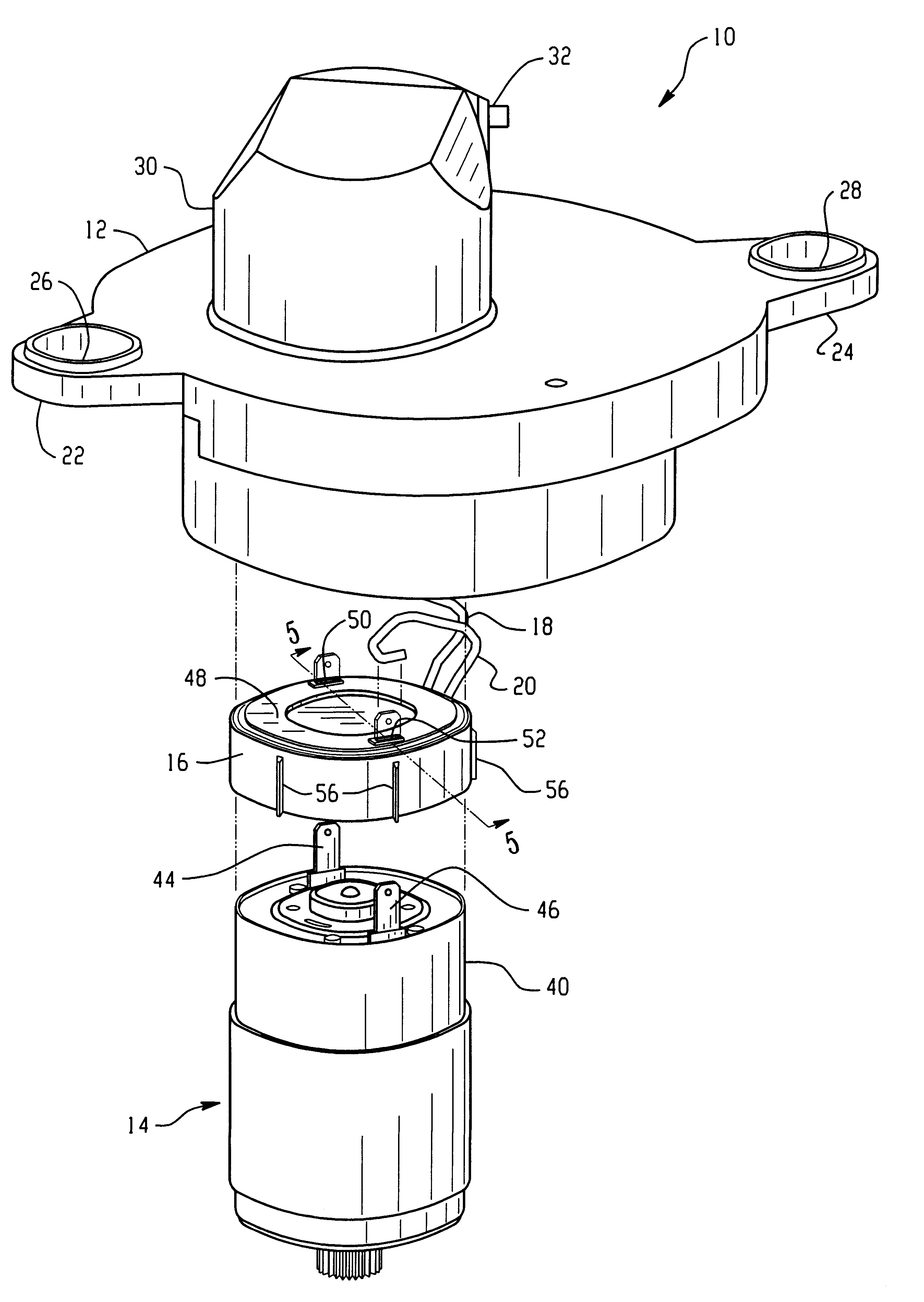 Patent us6204582 servo motor assembly and method of making same