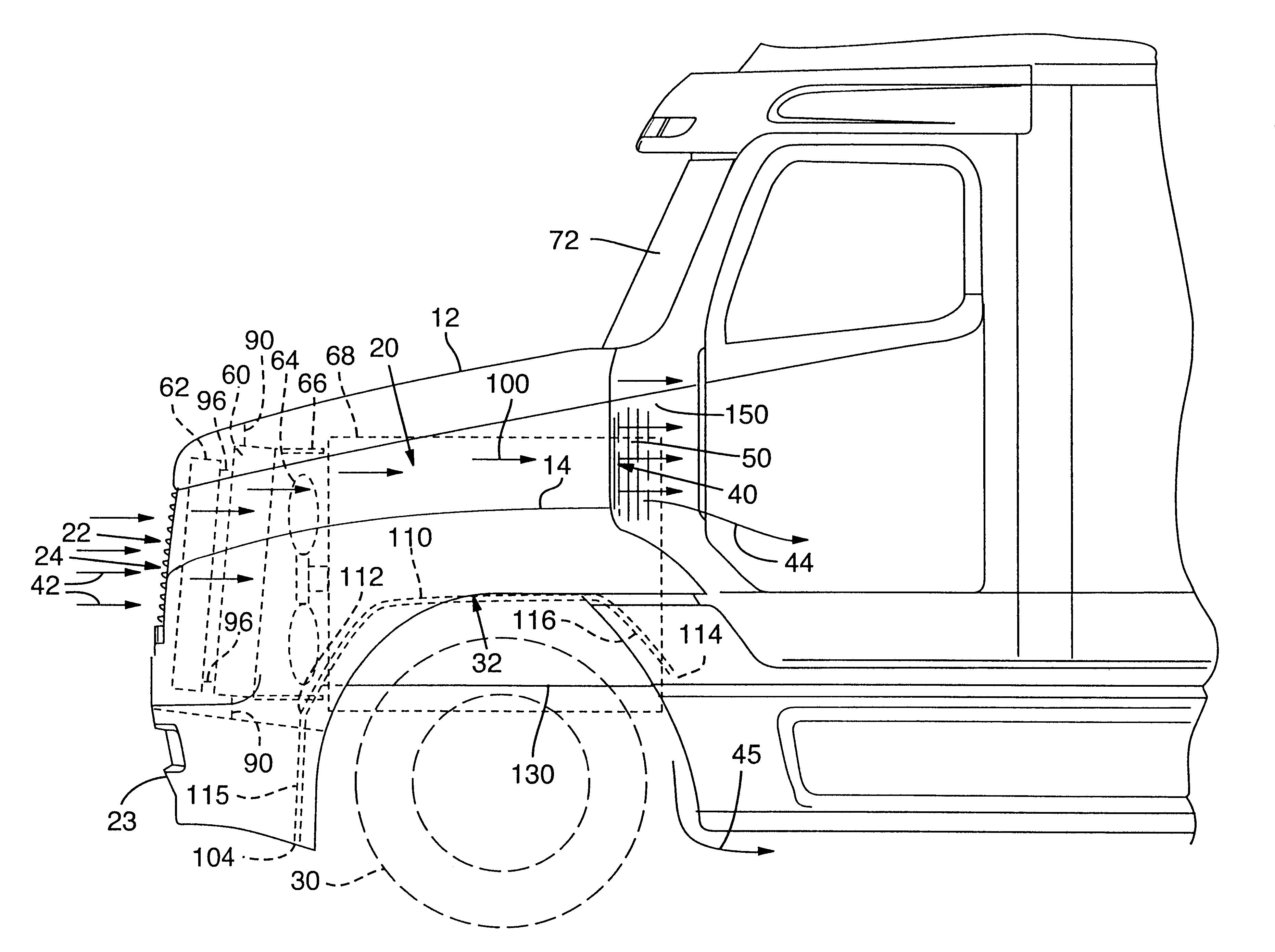 Patent us6230832 truck underhood air flow management system
