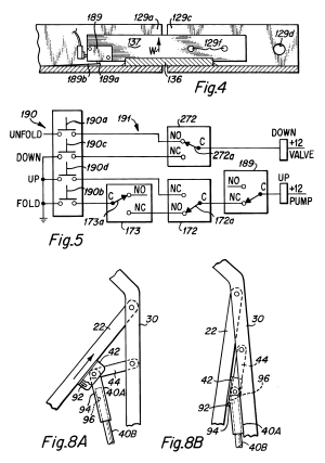 Patent US6238169  Dual function inboard barrierbridgeplate assembly for wheelchair lifts