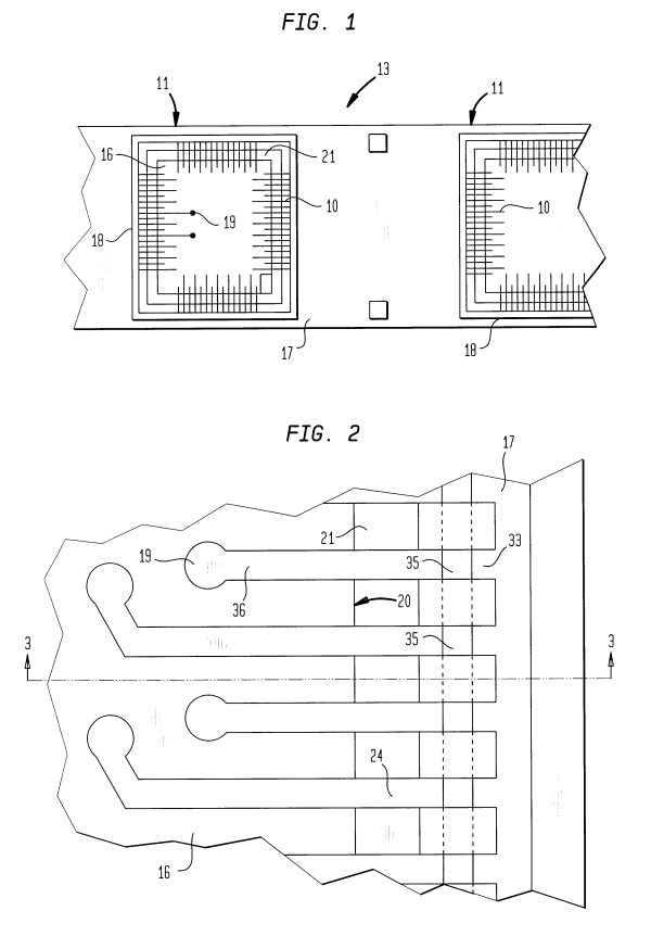 Patent US6255723 - Layered lead structures - Google Patents