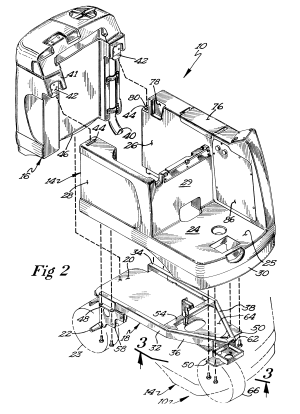Patent US6442789  Riding floor scrubber  Google Patents