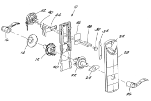 Patent US6612141  Interconnected lock with remote locking