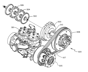 Patent US7063639  Snowmobile plaary drive system