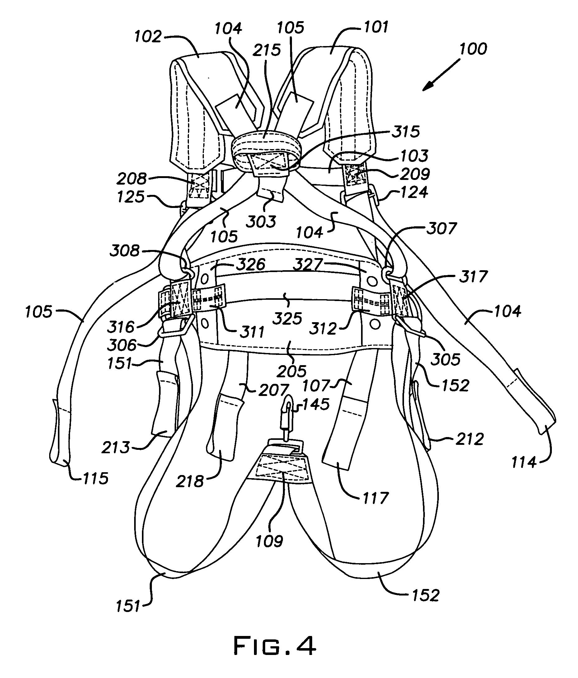Firefighter Full Body Harness