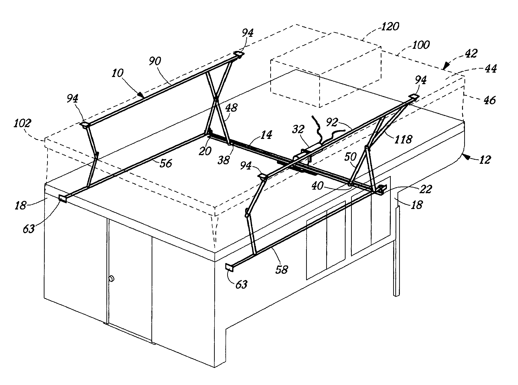Roof Lifting Mechanism Amp Patent Drawing Sc 1 St