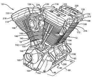 Patent US7134407  Vquad engine and method of