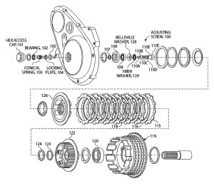 Patent US7320390  Outboard clutch assembly support and