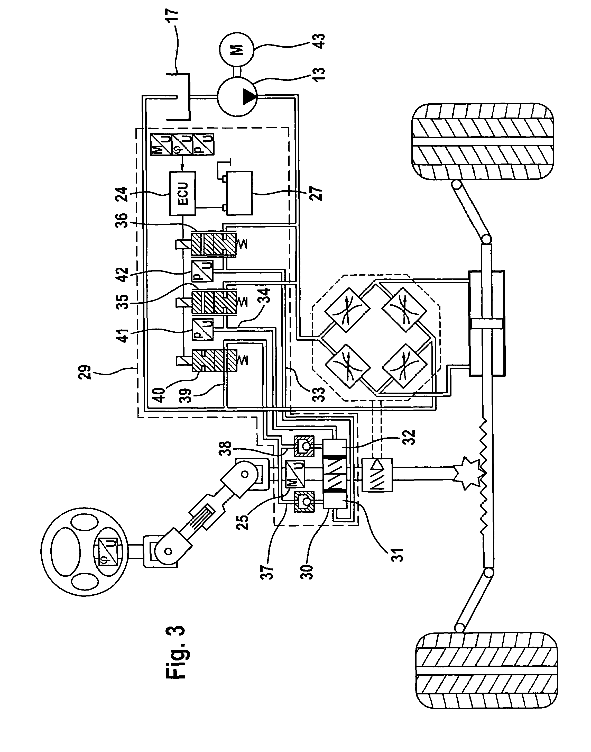 Patent us7337872 hydraulic power assisted steering system