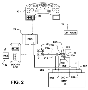 Patent US7429804  Lift gate power control system  Google