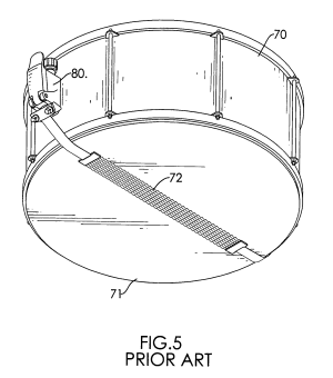 Patent US7439433  Snare drum strainer  Google Patents
