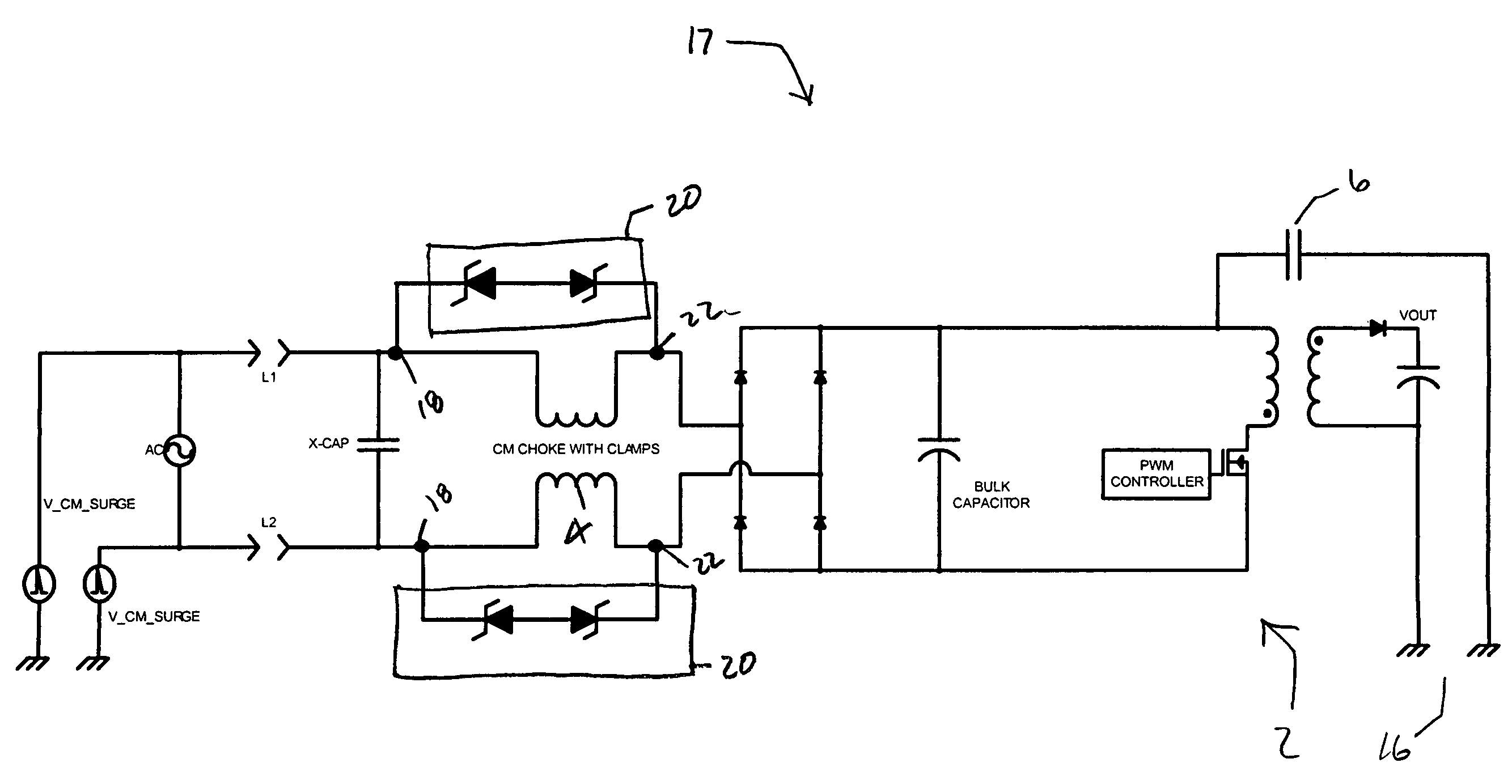 System For EMI Filter Surge Voltage