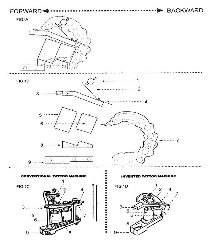 tattoo machine frame dimensions