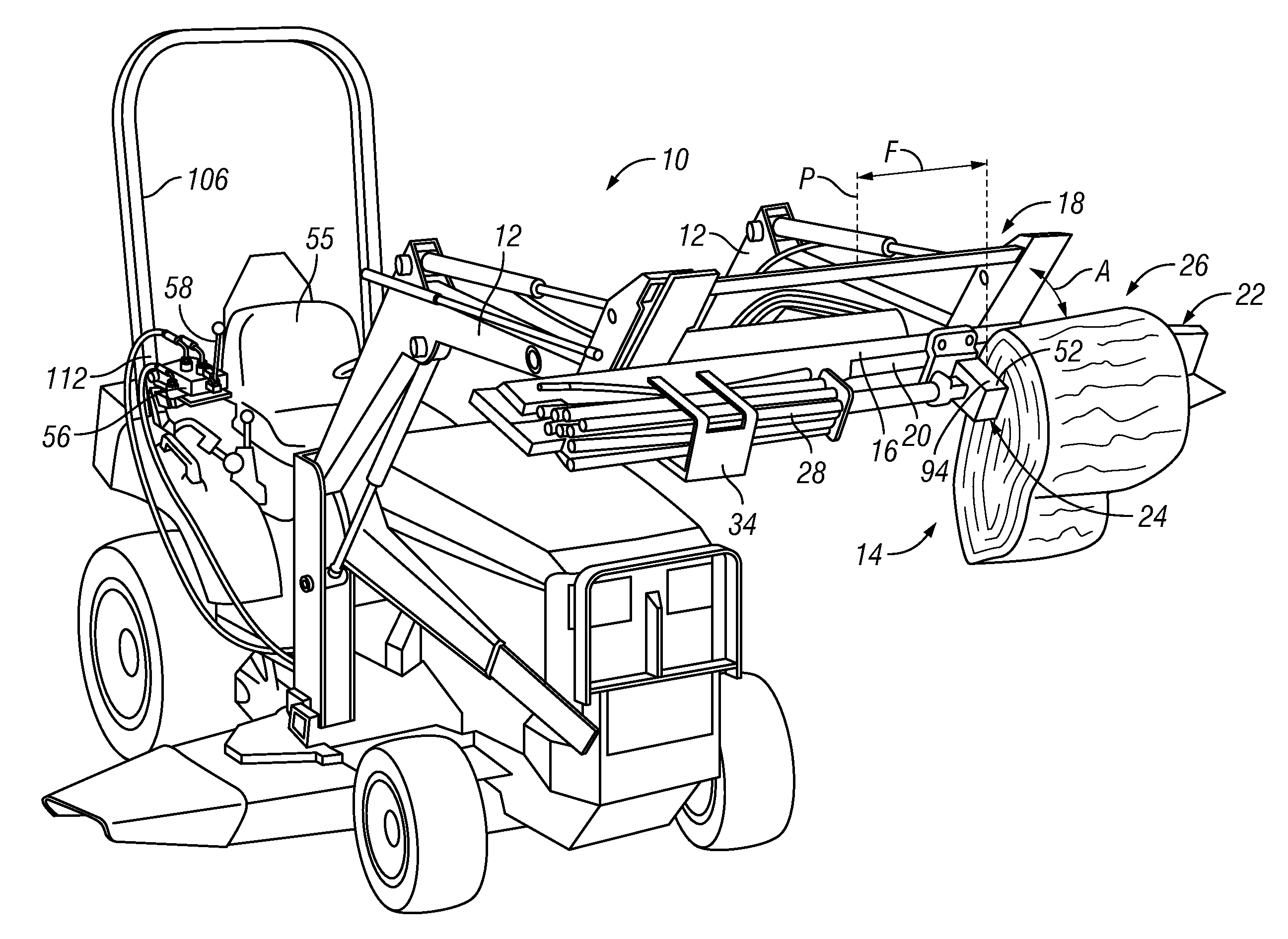 Truck Mounted Log Splitter