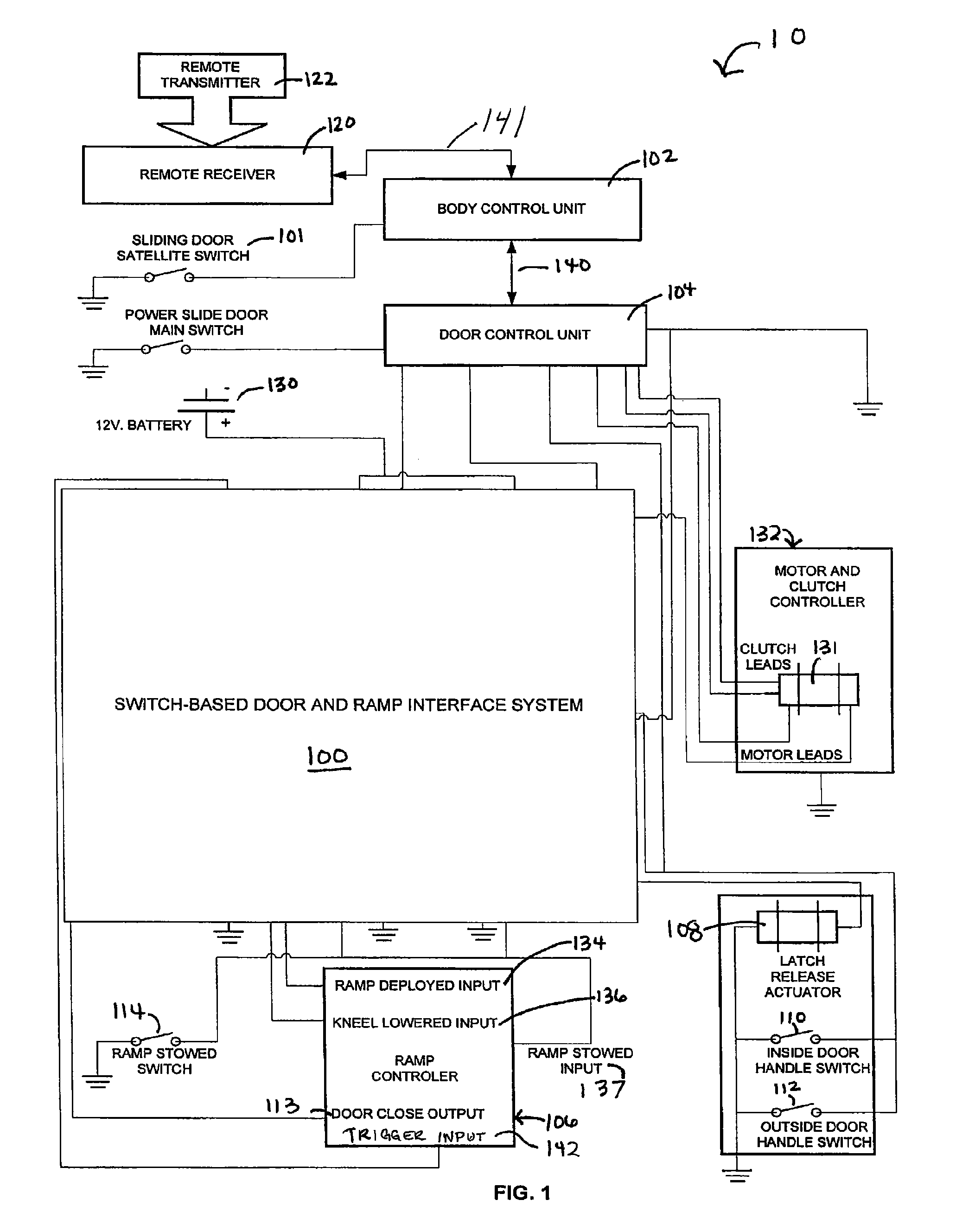 US07960853 20110614 D00001 braun wheelchair lift wiring diagram wiring automotive wiring  at webbmarketing.co