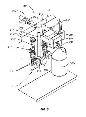 Patent US8378834  Kitchen hood assembly with fire