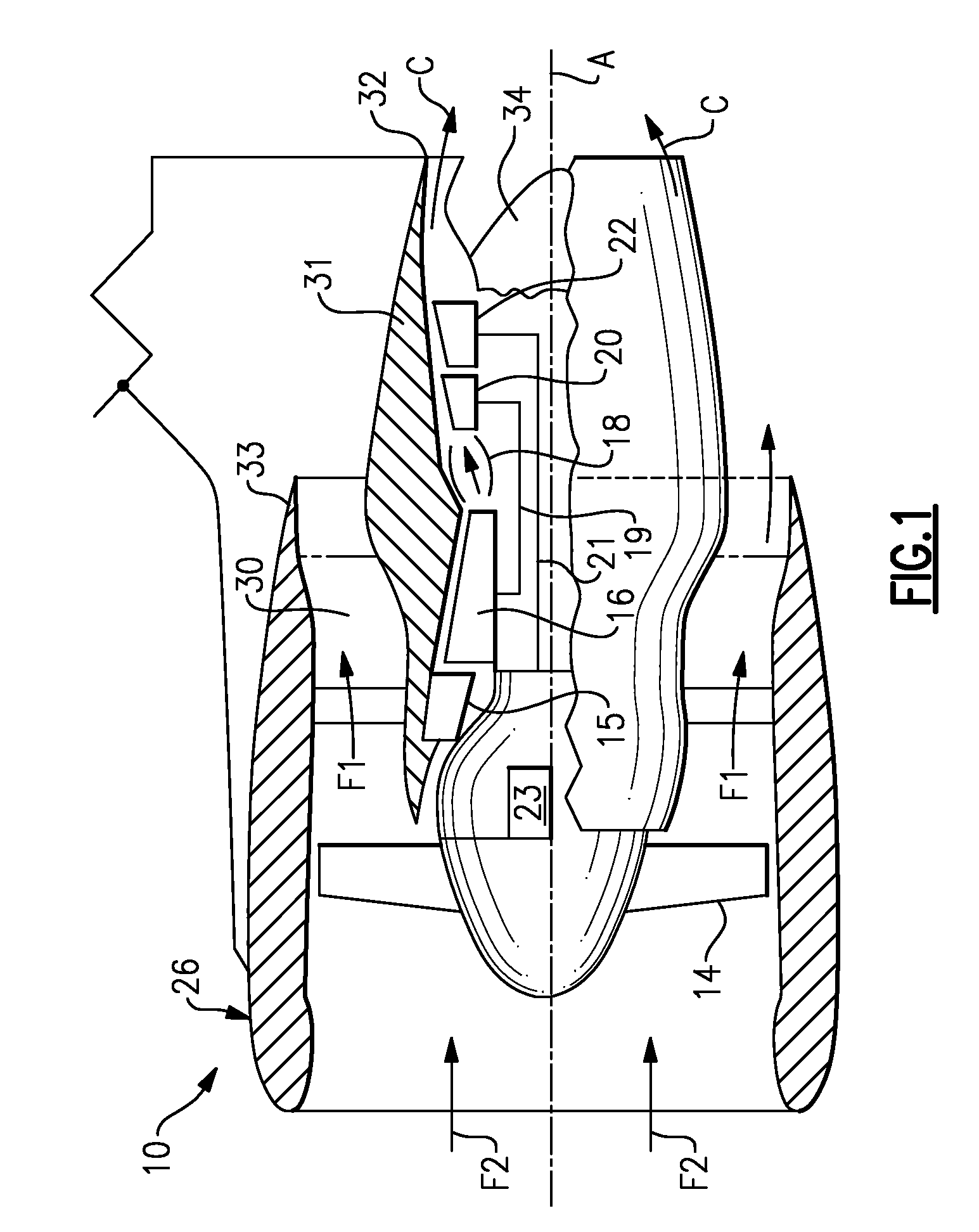 Patent us8408491 nacelle assembly having inlet airfoil for a gas