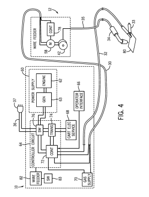 Patent US8476555  Portable welding wire feed system and