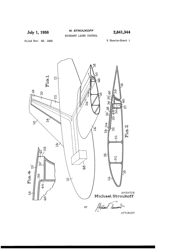 Patent US2841344 - Boundary layer control - Google Patents