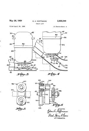 Patent US2888099  Chair lift  Google Patents