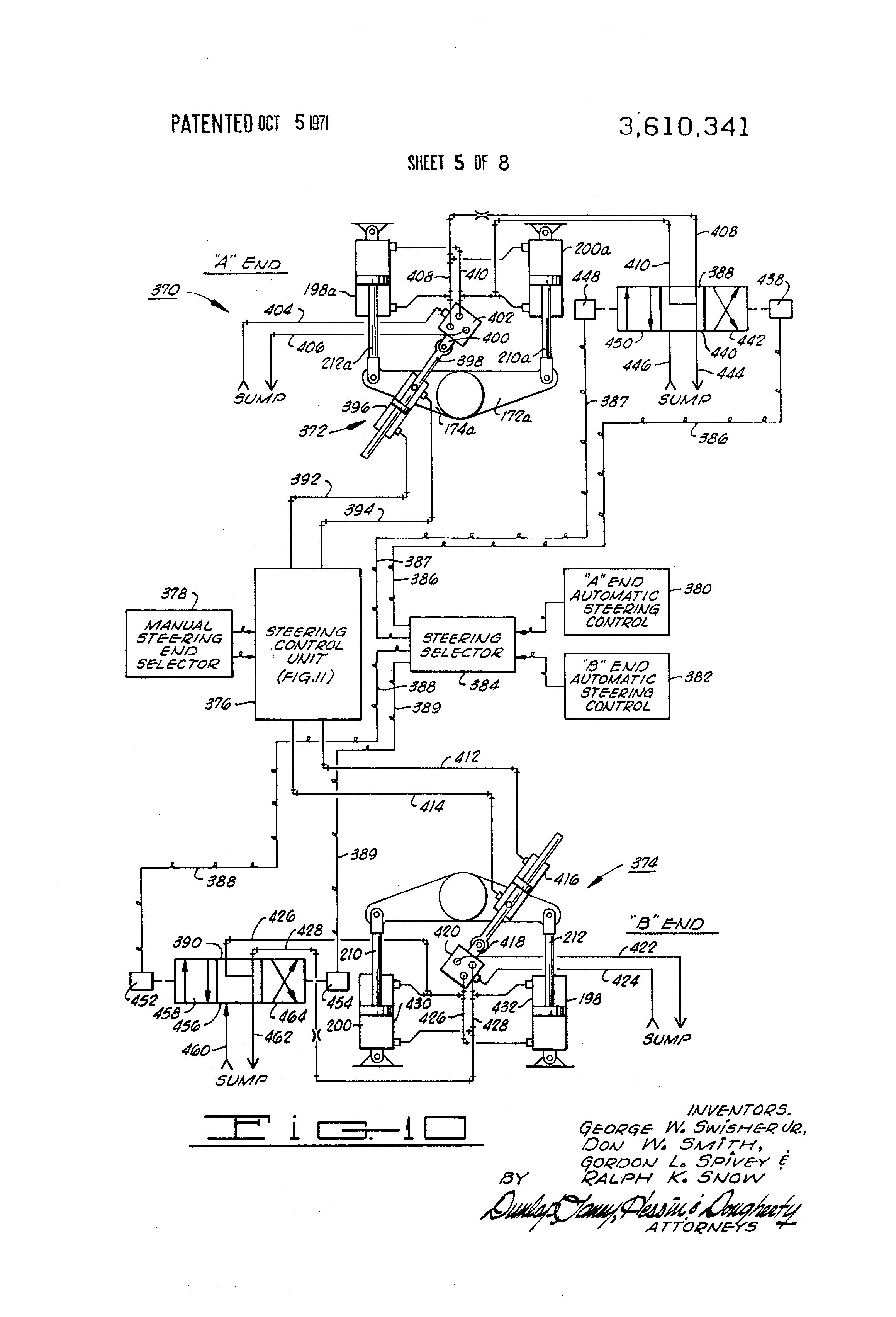 Patent us3610341 motor grader control system patents 730 case tractor wiring diagram at 646 case