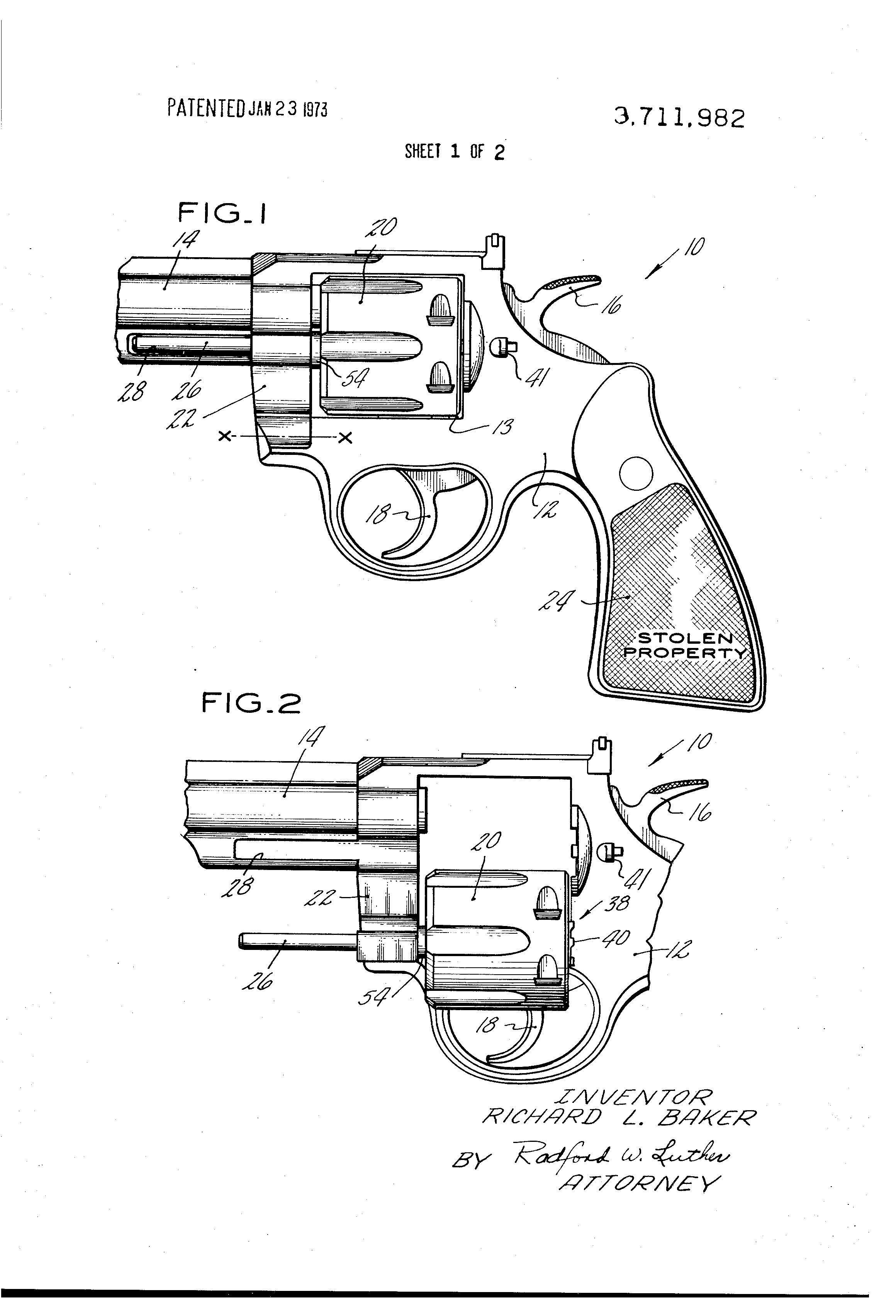 Schematic 22 Revolver Single Action