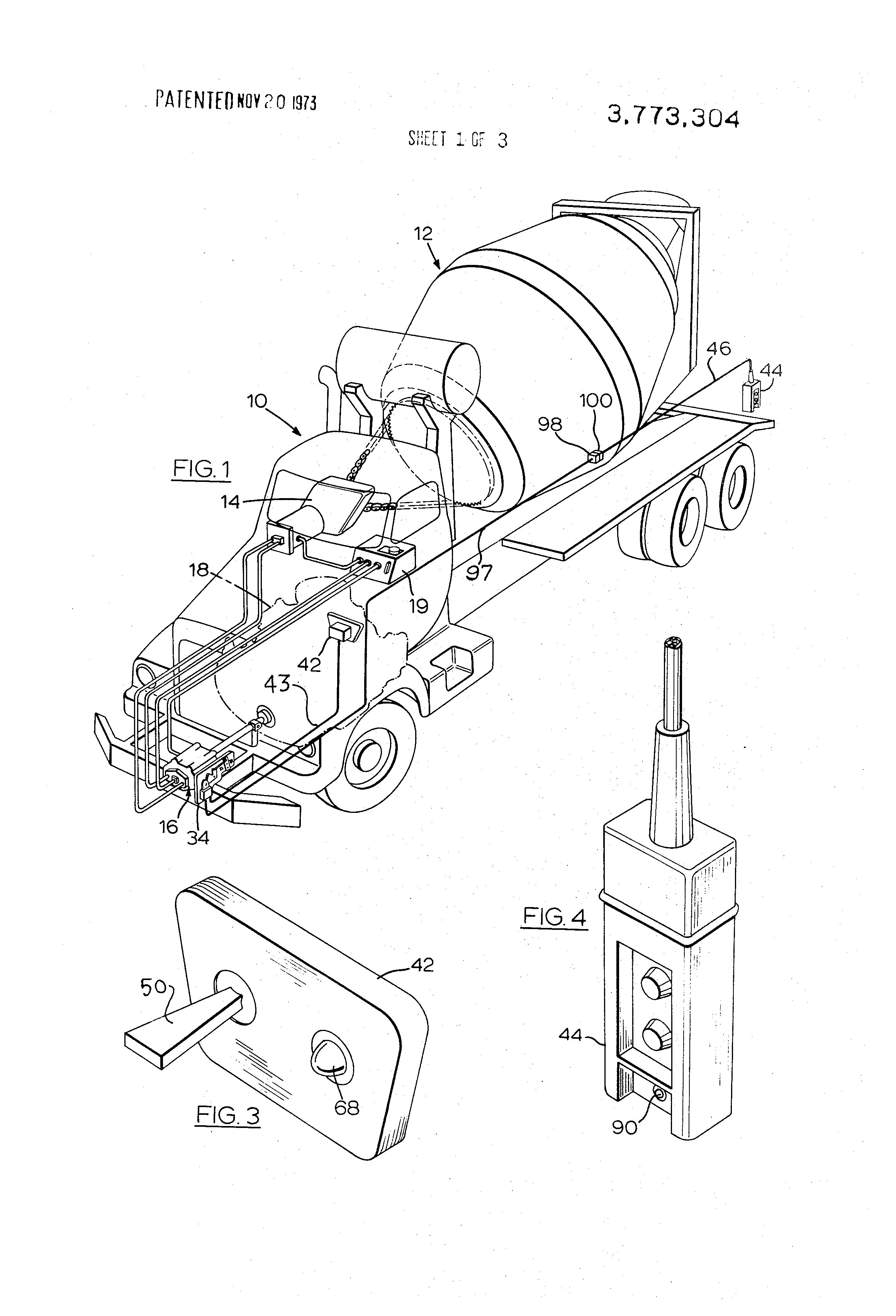 US3773304 1 of a concrete mixer truck