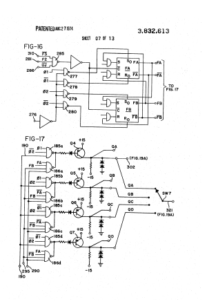 Patent US3832613  Sewing machine motor and control