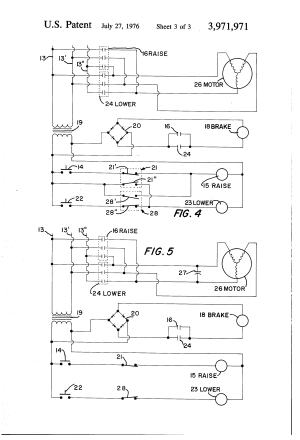 Patent US3971971  Electric hoist control and braking