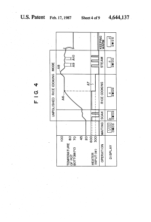 Patent US4644137  Circuit for controlling a rice cooker