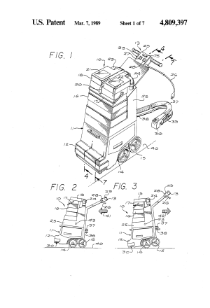 Patent US4809397  Rug and carpet cleaner  Google Patents