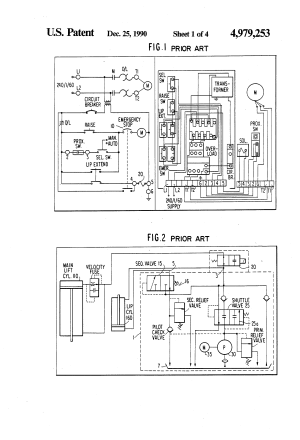 Patent US4979253  Hydraulic circuit for control of lip of